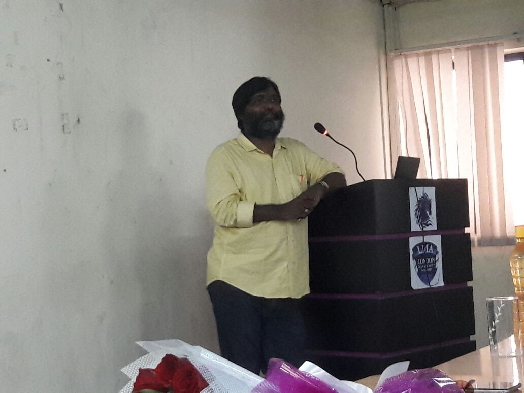 GUEST LECTURE BY Mr. A. GEORGE BABU